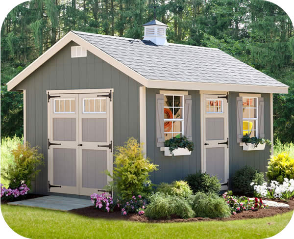 EZ-Fit Riverside 10x14 Wood Storage Shed Kit