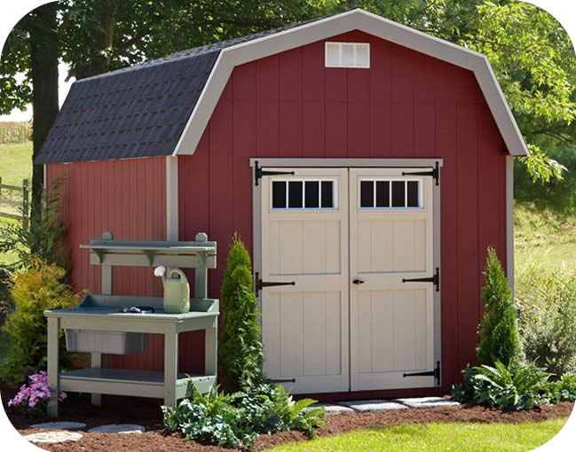 EZ-Fit Cornerstone 8x8 Wood Storage Shed Kit