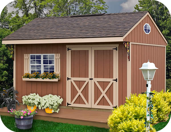 Northwood 14x10 Wood Storage Shed Kit All Pre Cut
