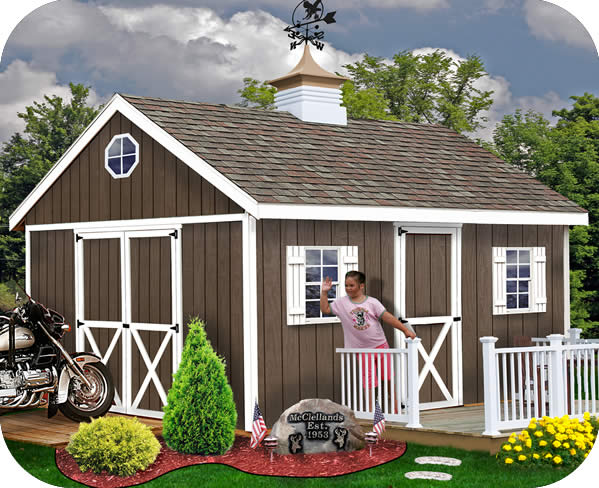 Easton 16x12 Wood Storage Shed Kit - ALL Pre-Cut