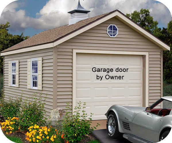 Greenbriar 12x20 Wood Garage Shed Kit - ALL Pre-Cut