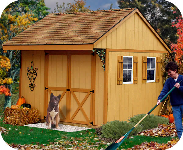 Charming Northwood 10x10 Wood Storage Shed Kit   ALL Pre Cut