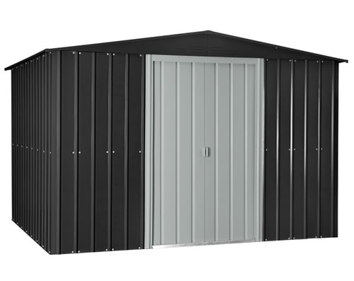 Globel 10x8 Gable Roof Metal Shed - Slate Gray