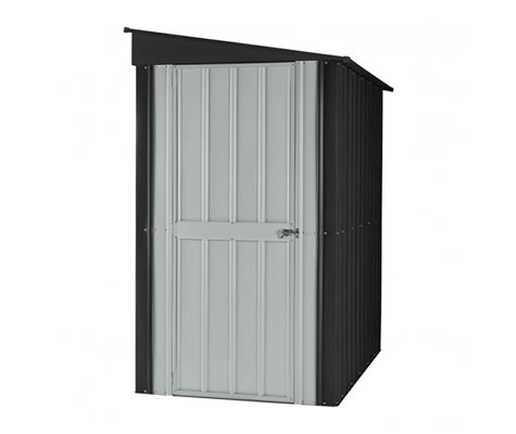 Globel 4x6 Lean-To Metal Shed Kit - Slate Gray