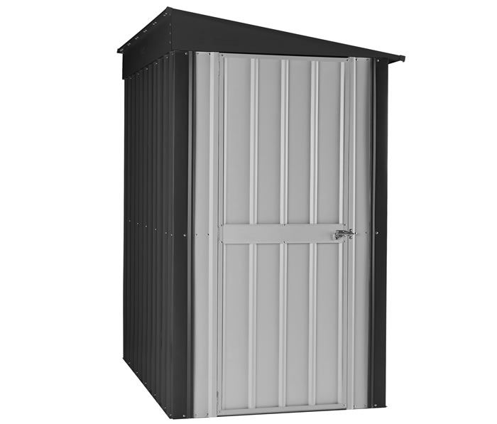 Globel 4x8 Lean To Metal Storage Shed Kit Gray Click Enlarge