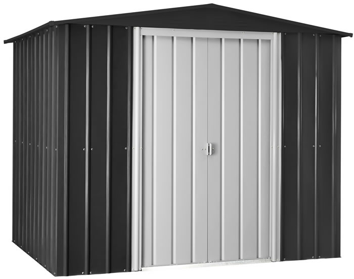 Globel 8x6 Gable Roof Metal Shed - Dark Gray