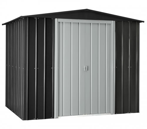 Globel 8x6 Gable Roof Metal Shed - Slate Gray