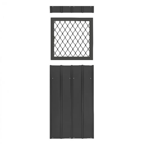 Globel 24x24 Metal Shed Window Kit - Slate Gray