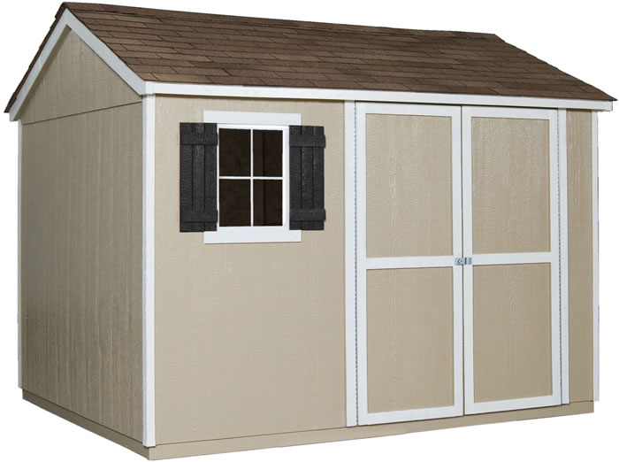 Handy Home Avondale 10x8 Wood Storage Shed w/ Floor