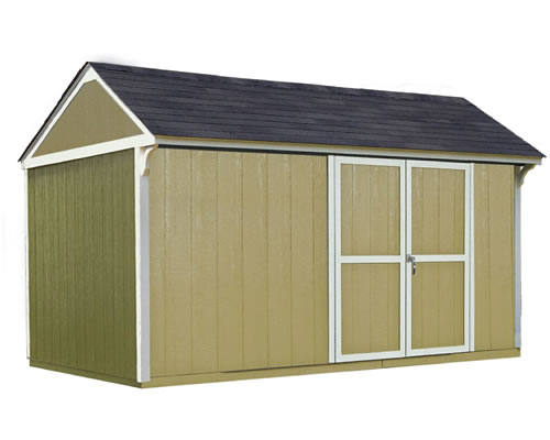 Handy Home Lexington 12x8 Wood Storage Shed w/ Floor