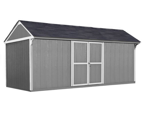 Handy Home Lexington 16x10 Wood Storage Shed Kit