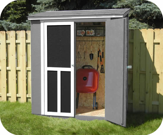 Handy Home Maumee 6x3 Wood Shed w/ Black Shingles