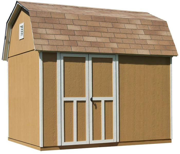 handy home briarwood 10x8 wood storage shed kit
