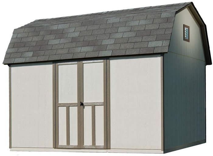 handy home briarwood 12x8 wood storage shed kit - Garden Sheds Wooden