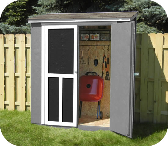 Handy Maumee 6x3 Shed w/ Weatherwood Shingles