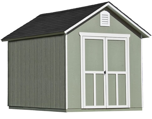 Handy Home Meridian 8x10 Wood Storage Shed Kit