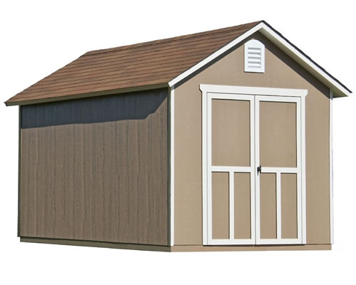 handy home meridian 8x12 wood storage shed kit - Garden Shed Kits