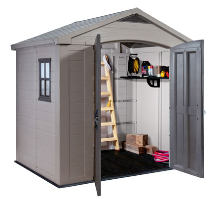 Keter Factor 8x6 Plastic Storage Shed Kit w/ Floor