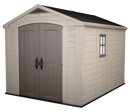 Keter Factor 8x11 Plastic Storage Shed Kit w/ Floor