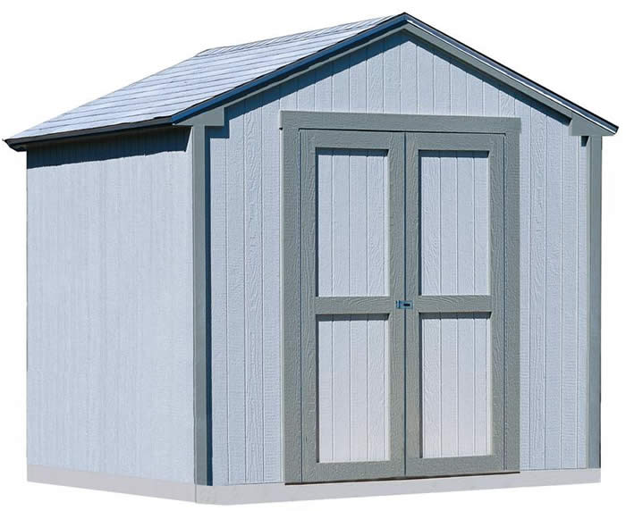 Handy Home Kingston 8x8 Wood Storage Shed w/ Floor