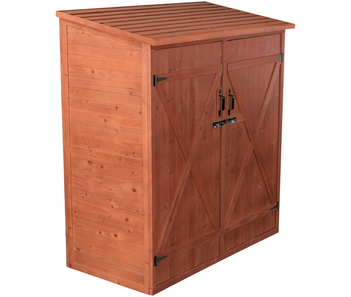 Leisure Season Medium Wood Storage Shed Kit