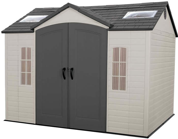 Lifetime 10x8 Garden Storage Shed Kit w/ Floor