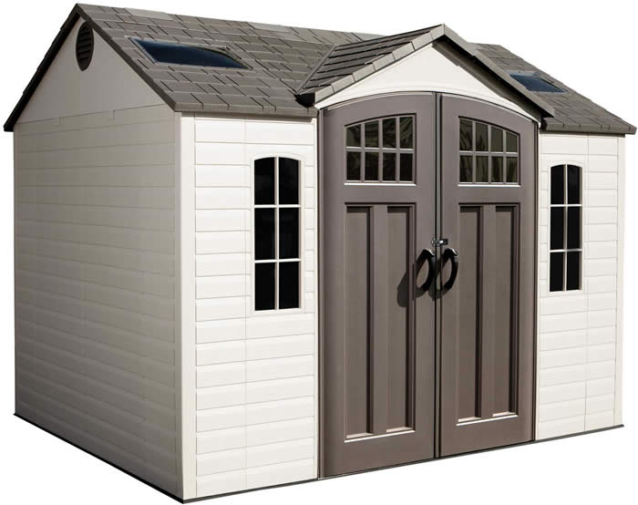 Lifetime 10x8 Side Entry Storage Shed W Floor