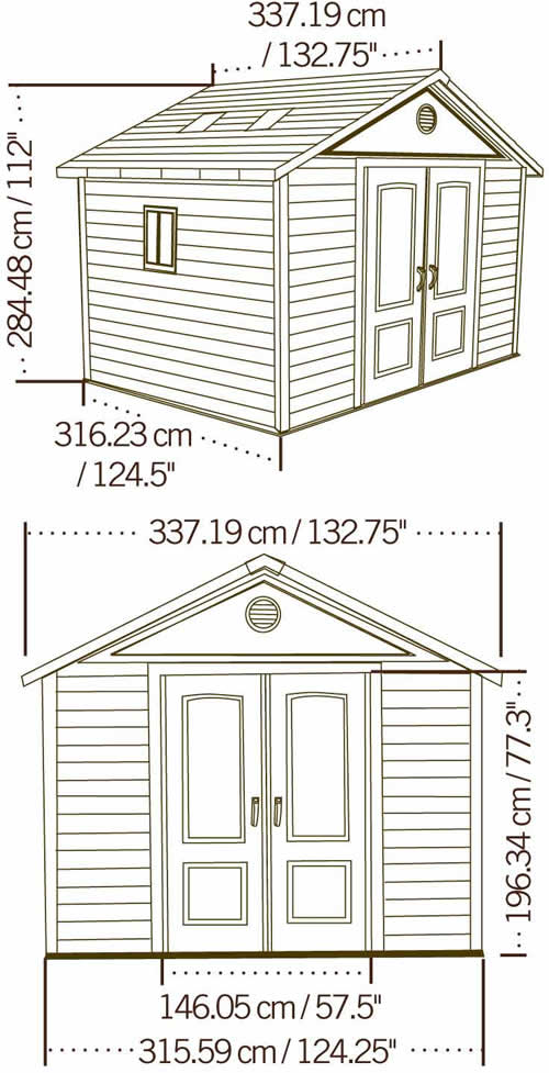 Lifetime 11x11 Shed 6433 Measurements