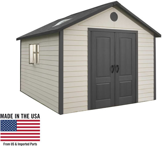 Lifetime 11x23.5 Shed Made in the USA