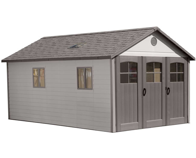 Lifetime 11x18 Storage Garage Kit w/ 9ft Wide Doors