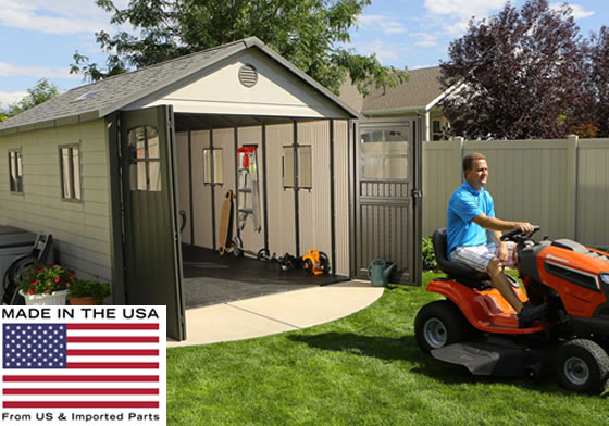 Lifetime 11x18 Garage 60236 - Made in the USA from US and Imported Parts