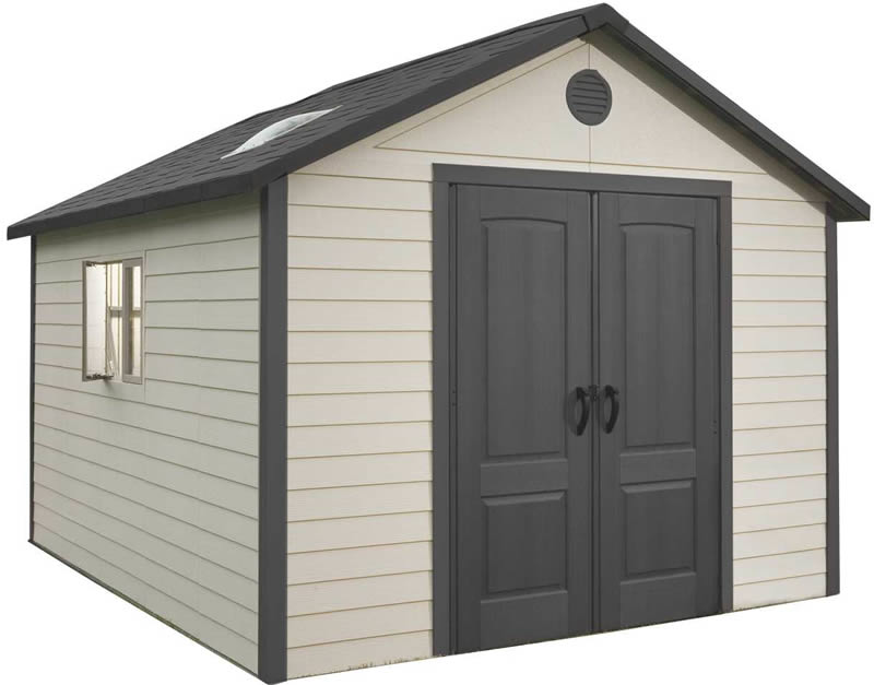 Lifetime 11x23.5 Plastic Storage Shed Kit w/ Floor (6415 ...