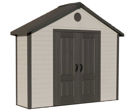 Lifetime 11x3.5 Plastic Garden Storage Shed w/ Floor