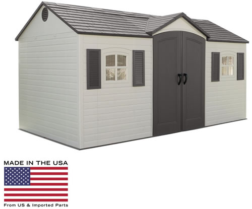 Lifetime 6446 Shed Made In The USA from US and Imported Parts!