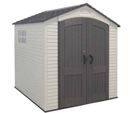 Lifetime 7x7 Garden Storage Shed w/ Floor