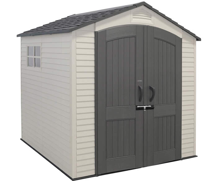 Lifetime 7x7 Garden Storage Shed w/ Two Windows