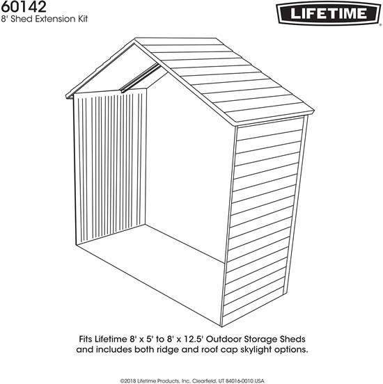Lifetime 8 ft Extension Kit 60142
