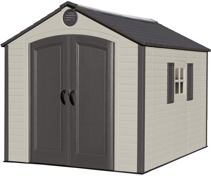 Lifetime Sheds 8x10 Plastic Shed Kit - Ridge Skylight