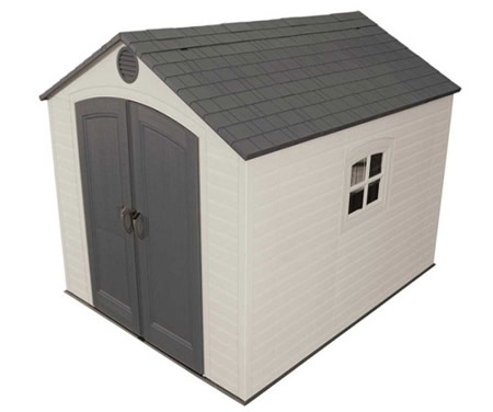 Lifetime 8x10 Outdoor Storage Shed Kit with Floor & Window