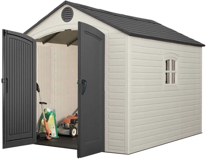 Lifetime 8x10 Plastic Storage Shed Kit w/ Floor