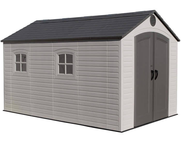 Lifetime 8x12 Plastic Storage Shed Kit W Floor 6402