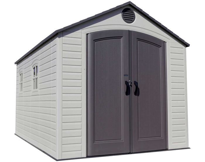 Lifetime Sheds 8x15 Plastic Storage Shed w/ 2 windows