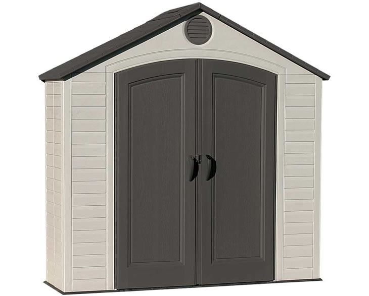 lifetime 8x25 tool storage shed w floor