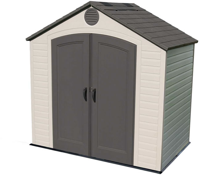 Lifetime 8x5 Plastic Storage Shed Kit w/ Floor