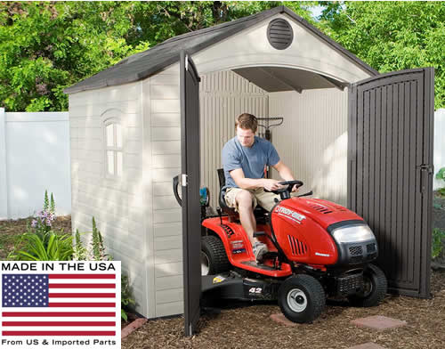 The Lifetime 8x7 Shed is Made In The USA!