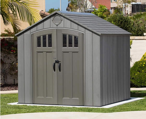 Lifetime 8x7 Shed 60230A - Installed - Doors Closed View