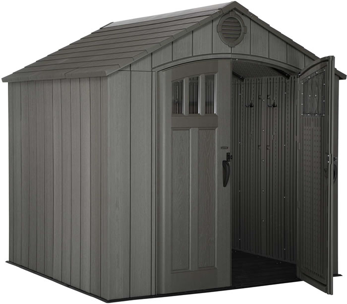 Lifetime 8x7.5 Shed Kit w/ Vertical Siding - Roof Brown