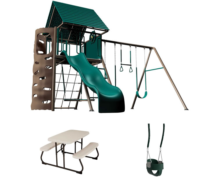 Lifetime A-Frame Playset w/ Toddler Swing & Table