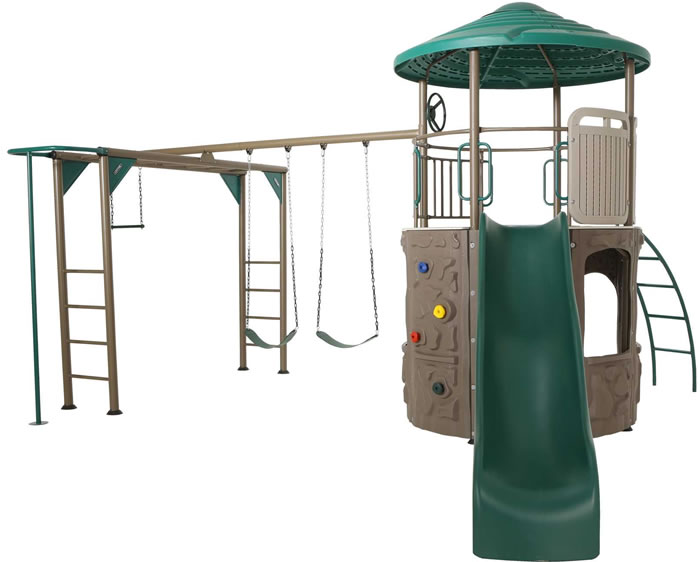 Lifetime Adventure Tower Deluxe Swing Set - Earthtone