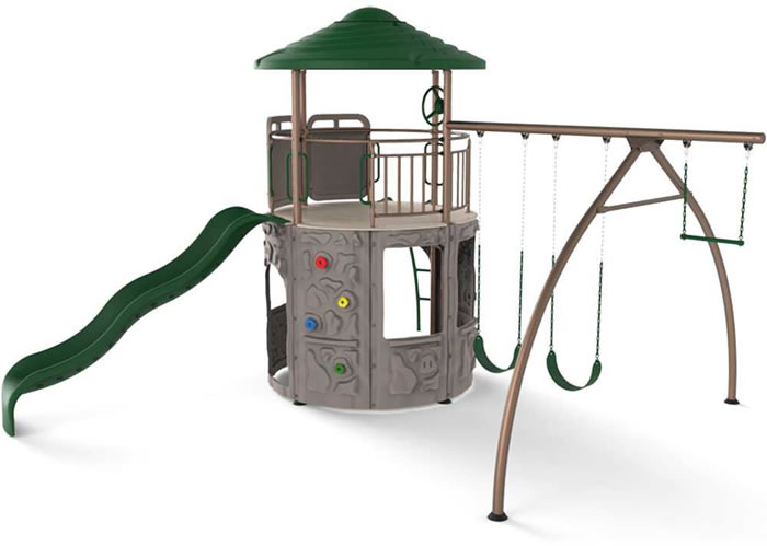 Lifetime Adventure Tower Swingset Playset - Earthtone